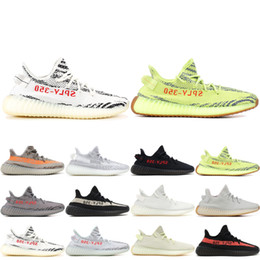 best sneakers cd598 45526 2019 Adidas yeezy boost 350 v2 Kanye West V2 Negro Blanco Crema Mantequilla  de cebra Blanco Nuevo Estático Hombres Mujeres Zapatos para correr V2  Zapatos de ...