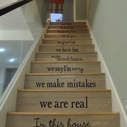 $enCountryForm.capitalKeyWord Australia - English motto house rules Stairs wall Sticker Graphic Unique Mural Cosplay Gifts for living room home decoration Pvc Decal paper WN655