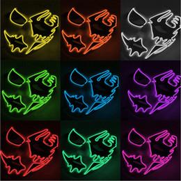 $enCountryForm.capitalKeyWord Australia - Led Mask Halloween Party Masque Masquerade Masks Neon Masks Light Glow In The Dark Mascara Horror Mask Glowing Masker Purge