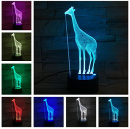 $enCountryForm.capitalKeyWord Australia - Novelty Animal Giraffe Decoration 7 Color Change LED Children's Room Bedside Table Home Lamp Kids Christmas Birthday Party Baby Toys Gifts