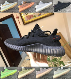 light reflective fabric Australia - Kanye West Platform Black Static Antlia Reflective Designer Shoes Trfrm Running Shoes Glow In The Dark Sesame Men Women Sneakers US 5-13
