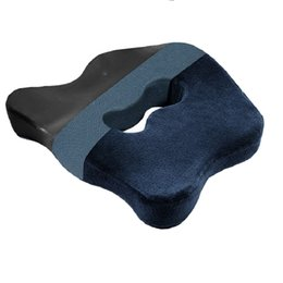$enCountryForm.capitalKeyWord Australia - 1PC Ergonomic Design Coccyx Pillow Magnetic Cloth Lining Bamboo Charcoal Memory Cotton Protect The Tailbone Seat Cushion Solid