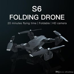 s6 camera NZ - LQ S6 RC Aircraft Toy, 200W HD 1080P Camera Drone, Designated Path Flight, Gravity Sensing UAV, Dual Cameras Quadcopter, Gesture Photography