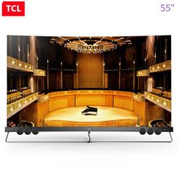 TCL de 55 pulgadas de punto proto-cuántico pantalla curva ecológica completa HDR inteligente ultra hd 4K TV curva ¡envío gratis!