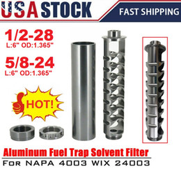 Ingrosso USA Stock Spiral 1 / 2-28 o 5 / 8-24 Single Core carburante Filtro su Napa 4003 WIX 24003 Car solvente PQY-AFF03 / 04