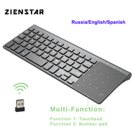 android tv box touchpad Australia - 2.4G Wireless Mini Keyboard with Touchpad and Numpad for Windows PC,Laptop,Ios pad,Smart TV,HTPC IPTV,Android Box
