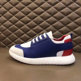 sneakers h Canada - 2020 New Luxury Designer Brand H Sneakers Top Cowhide Fashion Men Comfortable Casual Flat Shoes high shoes RDxcm03