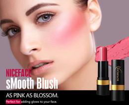 Discount blush sticks - NICEFACE Blush Stick Women Professional Natrual Long-lasting Make Up Brighten Blusher Cutting Marker Easy to Wear Blush