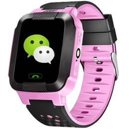 smart watch security NZ - Fashion Kid Smart Watch GPS Tracker Remote Security SOS Call Anti-Lost Call Flashlight Camera Watch Gifts For Kids