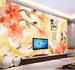 $enCountryForm.capitalKeyWord Australia - custom size 3d photo wallpaper living room mural marble jade carving bird and flower 3d picture sofa TV backdrop wallpaper non-woven sticker