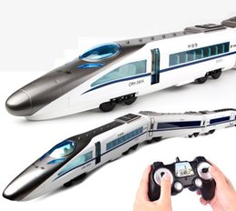 flash drive charger Australia - SY 2.4G RC High Speed Rail Train Toys, Remote Electric Open Door, 1.14M Super Big, Double Headed Two-way Drive, Sound& LED Lights, Kid Gifts
