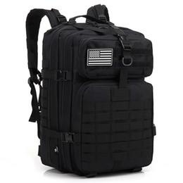 zaini esercito borsa tattica runcksacl pack 45L borse d'assalto outdoor 3P EDC Molle Pack per trekking picnic jogging giocare campeggio caccia borsa in Offerta