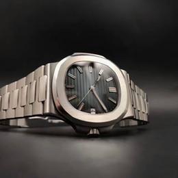 Опт Мужские Роскошные Часы Роскошные Высококачественные Автоматические Механические Часы 5711A Механизм Цельностальные Спортивные Водонепроницаемые Серебристые Часы