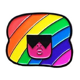 rainbow brooches Australia - Rainbow Head Fashion Color Badge Color Hairstyle Woman Friend Karaoke Love Brooch Clothes Accessories 2 Style Choice
