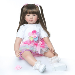 "Reborn Silicone Toddlers Australia - NPKCOLLECTION Doll Reborn babies 24""60cm Silicone Reborn Baby Doll Toys Toddler Girl princess bebe Doll reborn gift"