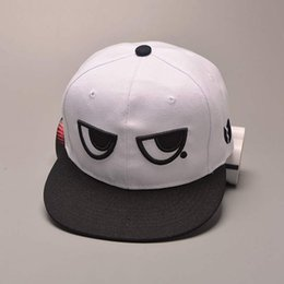 EyE hats online shopping - Fashion Summer Baseball Cap For Men Adjustable Snapback Hip Hop Caps Women Cute Black White Eyes Flat Hat casquette