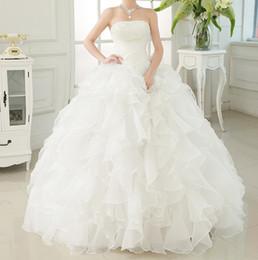 2019 nouveau blanc ivoire robe de mariée robe de mariée taille personnalisée chérie mariage robe de mariée en Solde