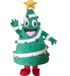 Cartoons full movies online shopping - 2019 High quality Christmas tree Cartoon Mascot dress dress up adult size costume carnival mascot costume party