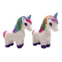 Chinese  Squishy unicorn 13.5cm Slow Rising Soft Oversize Phone Squeeze toys Pendant Anti Stress Kid Cartoon Toy Decompression Toy manufacturers