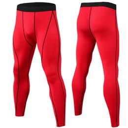Tiered Leggings NZ - FashionWholesale 2019 Running Compression Pants Tights Men Sports Leggings Fitness Sportswear Long Trousers Gym Training Pants Leggins Hombr