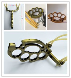 $enCountryForm.capitalKeyWord Australia - Folding Metal Boxing Thrust SlingShot Brass Knuckle duster Hell detective Constantine Powerful Self Defense Hunting Catapult High elasticity