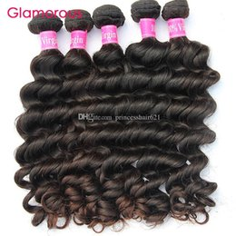 Pure Original Human Hair Canada - Glamorous Brazilian Hair Weft Natural Wave Hair Weaving 6 Bundles 8Inch To 34Inch Good Quality Original Malaysian Peruvian Indian Human Hair