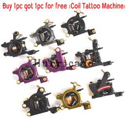 $enCountryForm.capitalKeyWord Australia - Cheap Guns 2pcs set Handmade 1pc Liner Machine Tattoo+1pc Shader Tattoo Gun Iron Frame Wrap Coil Tatoo Machine For Body Art