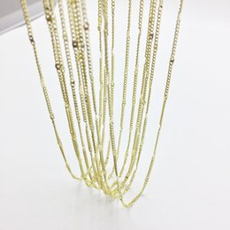 $enCountryForm.capitalKeyWord UK - Eruifa 10pcs 45cm Tiny Chain with 6cm Ext Chain Jewelry Link DIY Finding Necklace,2 Colors nickle free and lead free