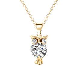 $enCountryForm.capitalKeyWord Australia - Owl Zircon Necklace Europe and the United States fashion necklace fast selling explosive necklace CZ pendant wholesale K5262