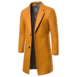 $enCountryForm.capitalKeyWord UK - Slim Plus Size Men Coat 2019 Fashion Mid-Long Style Button England Style Men Coat Winter Wear Suit Collar Warm Mid Long