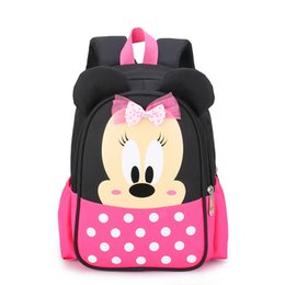 backpacks movies Canada - 3-6-8 Yrs Children Backpack Kindergarten Plush Toy Minnie Waterproof Backpack Cute Boy and Girl Big Class Schoolbag