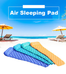 Wholesale Ultralight Air Sleeping Bed Inflatable Camping Mat with Pillow Beach Mat Picnic Mattress for Outdoor Hiking Backpacking Travel VT0166