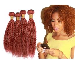$enCountryForm.capitalKeyWord Australia - Pure Color Orange #613 Hair Weaves 4pcs 10-30 inch Kinky Curly Hair Weaves 4Pcs lot Malaysian Kinky Curly Human Hair 4Bundles