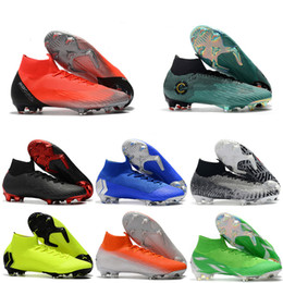 5c4bb9bbb 2019 New Mens High Ankle Football Boots CR7 Mercurial Superfly VI 360 Elite  FG Soccer Shoes Neymar ACC Superfly Soccer Cleats