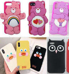 $enCountryForm.capitalKeyWord Canada - 3D Cartoon Soft Back Silicone Cover Flower Cat Duck Bear Cover for iPhone 6 6S 7 8 Plus XS Max XR X Case