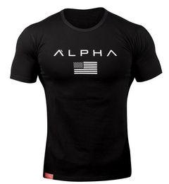 ae3f9d018b07 100% Baumwolle Gym Herren Tank Top Weste T-Shirt Sport Training ALPHA  Bodybuilding T-Shirt