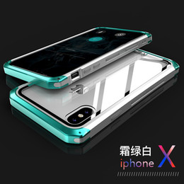$enCountryForm.capitalKeyWord Australia - wholesale For iPhone Xs Max Case Xr X 8 Plus 7 Plus Case with Glass Smart Color Metal Bumper Clear Glass Guard Panel Cover Armor