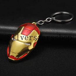 $enCountryForm.capitalKeyWord Australia - Iron Man Mask Fashion Zinc Alloy Keychain European and American Movies Around Car Accessories Small Gifts Event Giveaways