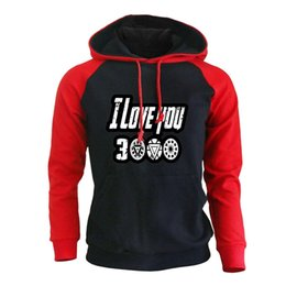 japanese clothes sweatshirt 2019 - Print Hoodie Men Letter I Love You 3000 The Pullover Casual Sportswear Japanese Streetwear Hip Hop Sweatshirt Clothing d