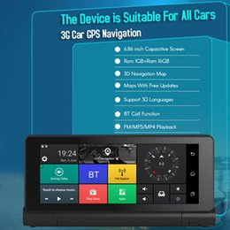 $enCountryForm.capitalKeyWord Australia - 12V 3G Car GPS Navigation Android 5.1 BT ROM 16GB RAM 1GB Full HD 1080P Foldable Car DVR Dual Lens Camera TS22
