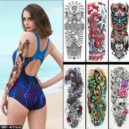 $enCountryForm.capitalKeyWord Australia - New Fashion Sexy Waterproof Temporary Tattoo Men Women Fake Body ART 17x48CM Tattoo Sticker Knight Tatoos
