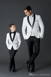 $enCountryForm.capitalKeyWord Australia - Black White Wedding Men Suits Slim Fit Bridegroom Tuxedos For Men Two Pieces Groomsmen Suit Cheap Formal Business Suit(Jacket+pant)