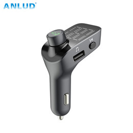 UniqUe mp3 player online shopping - ANLUD FM Transmitter Bluetooth Car Kit Handsfree MP3 Player Dual USB Bluetooth Unique Display Screen Lossless Music Playing