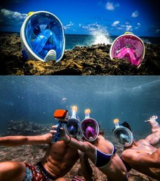 Adult Teenager Diving Mask Underwater Scuba Anti Fog Full Face Diving Mask Snorkeling Set with Anti-skid Ring Snorkel mask 2019 on Sale