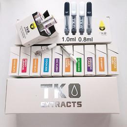 Vape pens cigarettes online shopping - TKO Cartridges Empty Vape Cartridge Packaging ml ml Ceramic Electronic Cigarettes Dab Pen Vaporizer Glass Thick Oil Thread Battery