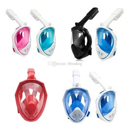 Underwater mask camera online shopping - 7 Colors Underwater Diving Mask Snorkel Set Swimming Training Scuba Full Face Snorkeling Mask Anti Fog With Camera Stand C6665