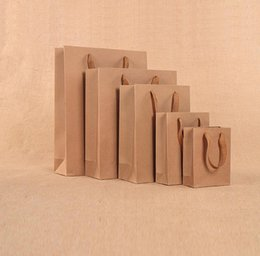 $enCountryForm.capitalKeyWord Australia - Brown Gift Bag with Handles ECO-friendly Kraft Paper Bags for Christmas Party Wedding Gift Packing Bags