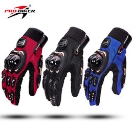 Summer Motorcycle Leather Gloves Australia - Wholesale summer breathable racing off-road gloves riding gloves motorcycle full-finger gloves cycling anti-fall gloves windproof 3 colors