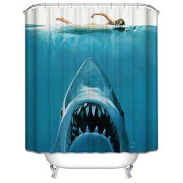 $enCountryForm.capitalKeyWord UK - Shower Curtain Shark Underwater Ocean Summer Beach Sea Blue