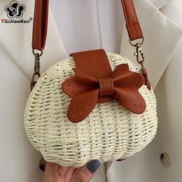 Khaki Cotton Shoulder Bag Australia - Fashion Handmade Woven Shoulder Straw Bag Small Summer Beach Bags for Women 2019 Luxury Handbags Women Bags Designer Borsa Mare
